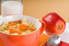 здоровый суп стоковое изображение rf