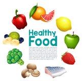 Здоровый шаблон еды бесплатная иллюстрация