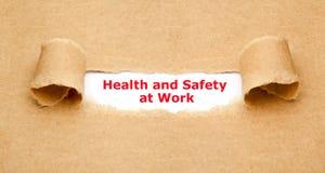 Здоровье и безопасность на концепции работы стоковое изображение rf