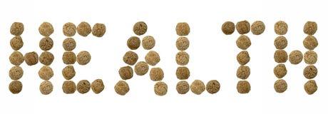 Здоровье надписи шариков рож Стоковые Фото