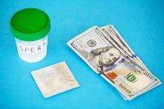 здоровье Сперма образца Концепция конца оказывающей экономическую помощь спермы спермы банка S Стоковые Изображения