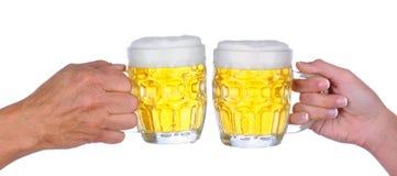 здравица пива стоковое изображение rf