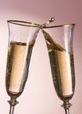 здравица шампанского торжества Стоковое фото RF