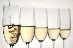 здравица шампанского Стоковое Изображение