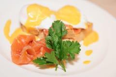 здравица poached яичком salmon Стоковое Изображение