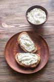 здравицы сыра cream Стоковое Изображение RF