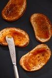 Здравицы с вареньем яблока Стоковая Фотография RF