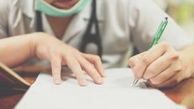 Здравоохранение и выход сочинительства доктора в больнице Стоковое Изображение