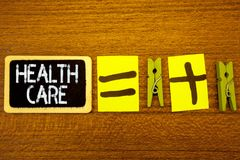 Здравоохранение текста сочинительства слова Концепция дела для медицинского улучшения обслуживания физического умственного классн Стоковые Фотографии RF