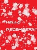 Здравствуйте! декабрь! иллюстрация вектора