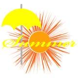 Здравствуйте! изображение лета изолированное на предпосылке цвета иллюстрация вектора