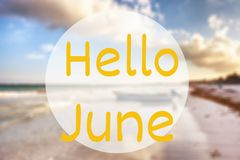 Здравствуйте! июнь стоковое фото rf