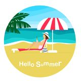Здравствуйте! лето! стоковое изображение