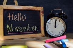 Здравствуйте! ноябрь задняя школа принципиальной схемы к стоковое изображение
