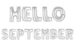 Здравствуйте! сентябрь, покрывает хромом серый цвет Стоковое фото RF