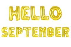 Здравствуйте! сентябрь, цвет -го золота Стоковые Фото