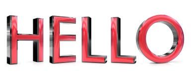Здравствуйте! слово Стоковые Фотографии RF
