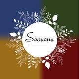 Здравствуйте! стиль поздравительной открытки весны схематичный Стоковое Изображение RF