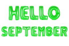 Здравствуйте! цвет -го сентябрь, зеленый Стоковые Фотографии RF