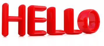 здравствулте! красный текст 3d бесплатная иллюстрация