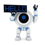 здравствулте! робот плиты иллюстрация штока