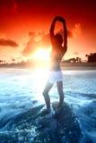 здравствулте! солнце Стоковая Фотография