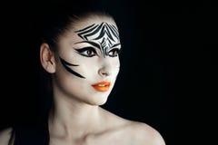 Зебра девушки Стоковая Фотография RF