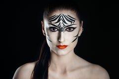Зебра девушки Стоковое Изображение