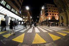 зебра пешехода скрещивания стоковое фото