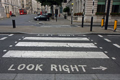 зебра пешехода london скрещивания Стоковая Фотография