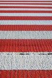 Зебра пешеходного перехода, конец-вверх Стоковое фото RF