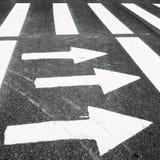 Зебра, пешеходный переход с дорожной разметкой стоковое фото rf