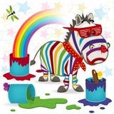 Зебра радуги Стоковые Изображения RF