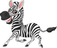 зебра шаржа милая Стоковые Изображения