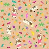 Зебра witn картины милая Тип шаржа для детей также вектор иллюстрации притяжки corel иллюстрация вектора