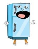Зевая шарж холодильника Стоковые Изображения RF