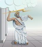 Зевс бога древнегреческия Стоковое Изображение