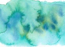 Зеленая абстрактная предпосылка щетки акварели стоковые фотографии rf