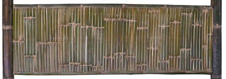 Зеленая бамбуковая загородка изолированная на белой предпосылке Путь клиппирования стоковое изображение