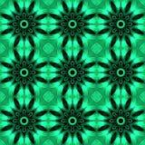 Зеленая безшовная абстрактная картина Стоковое Изображение RF