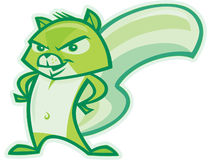 зеленая белка иллюстрация штока