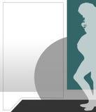 зеленая беременная женщина иллюстрации Стоковое фото RF