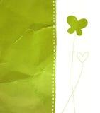 зеленая бумага Стоковая Фотография RF