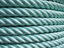 зеленая веревочка нейлона Стоковые Фото