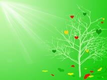 зеленая весна иллюстрации Стоковое Изображение