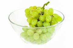Зеленая виноградина в стекле Стоковые Изображения