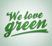 зеленая влюбленность Стоковая Фотография