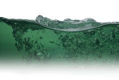 Зеленая вода от пузырей Стоковые Изображения
