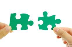 зеленая головоломка Стоковые Изображения