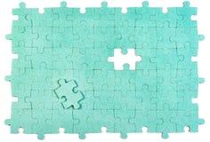зеленая головоломка Стоковое Изображение RF